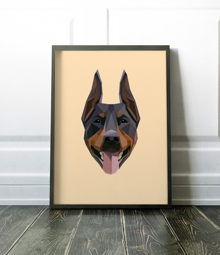 Geometric Dogs Poster