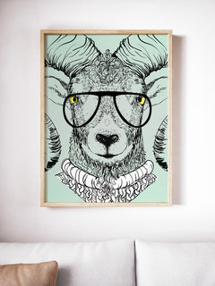 Hipster Animal Poster