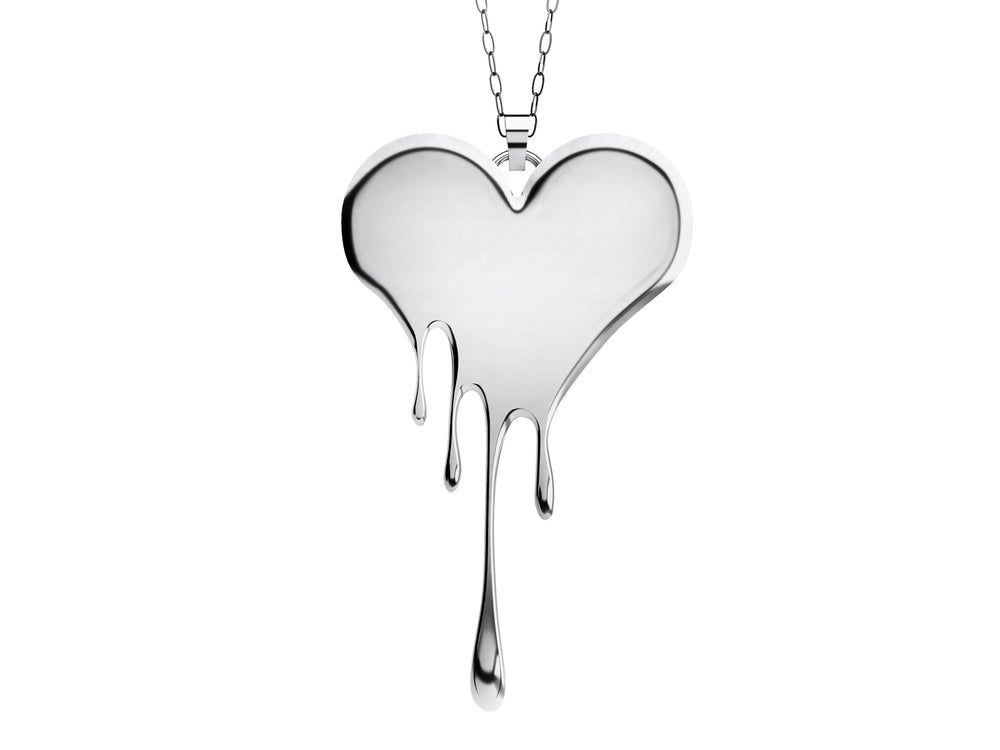 Dropping Heart Necklace