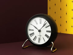 Arne Jacobsen Table Clock Black