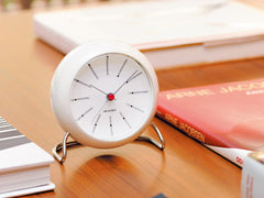 Arne Jacobsen Table Clock White