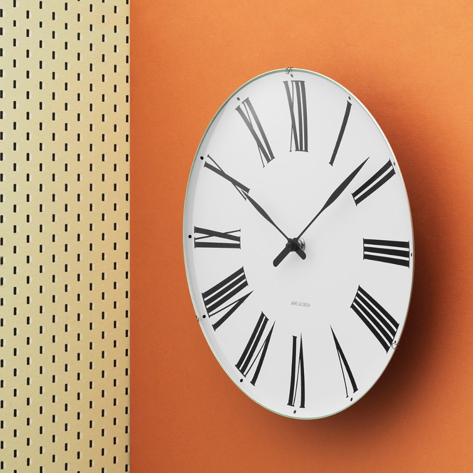 Arne Jacobsen Roman Wall Clock