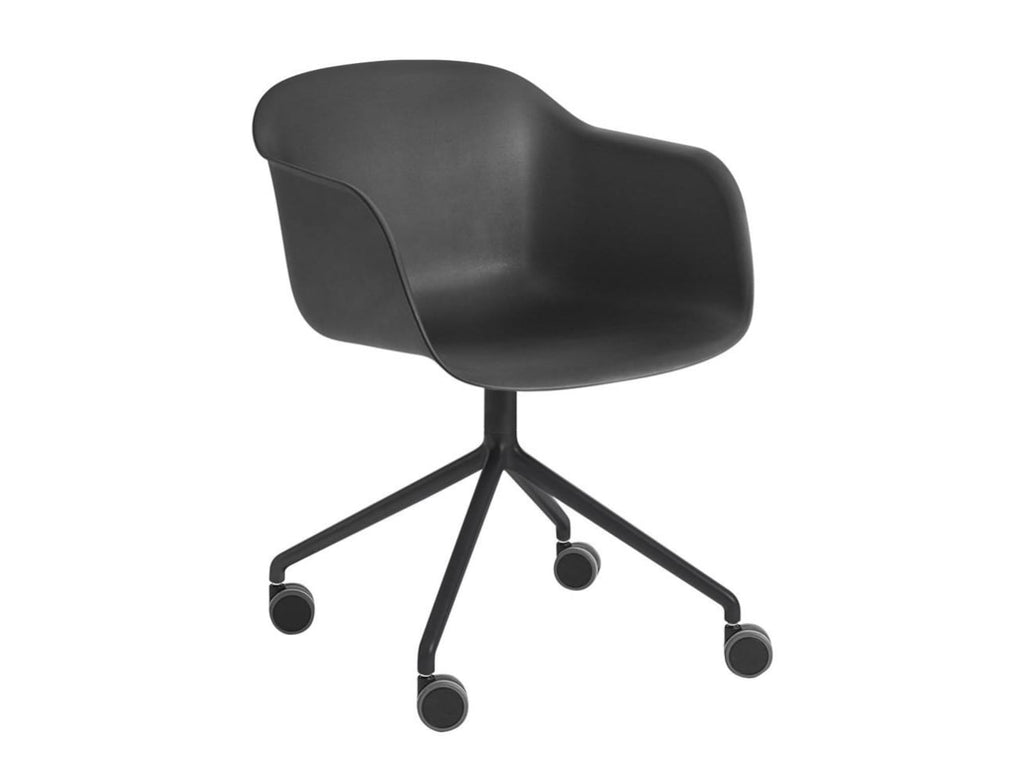 Fiber Armchair Swivel Base w. Castors