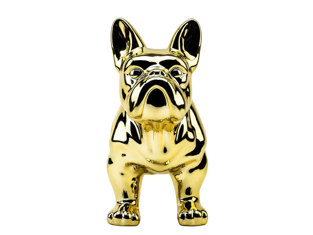 Gold Ceramic Bulldog