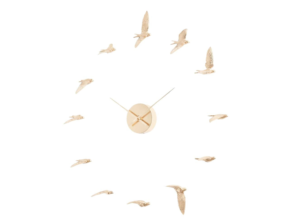 Gold Swallow Clock