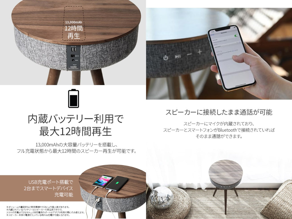 Mellow Bluetooth Speaker Table