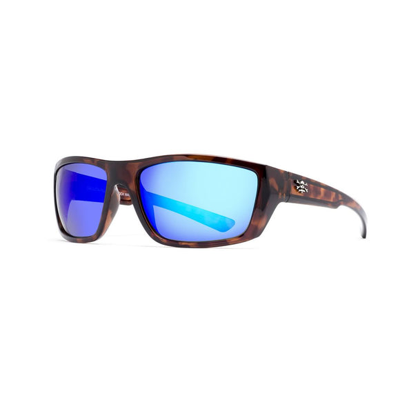 New Authentic Calcutta Shock Wave Sunglasses Tortoise Shell Frame/ Polarized Blue Mirror Lens