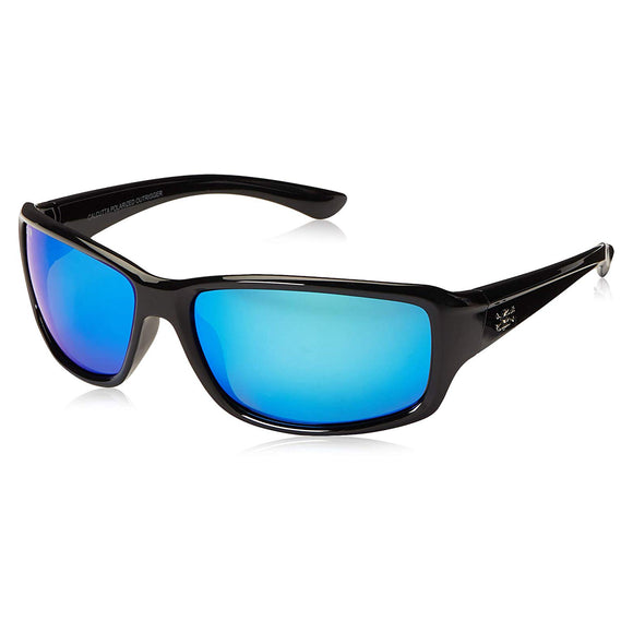 New Calcutta Outrigger Sunglasses Black Blue Mirror Polarized