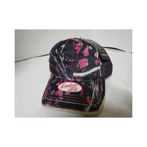 Muddy Girl Ladies Low Profile Hat Pink, Purple & Black Camo