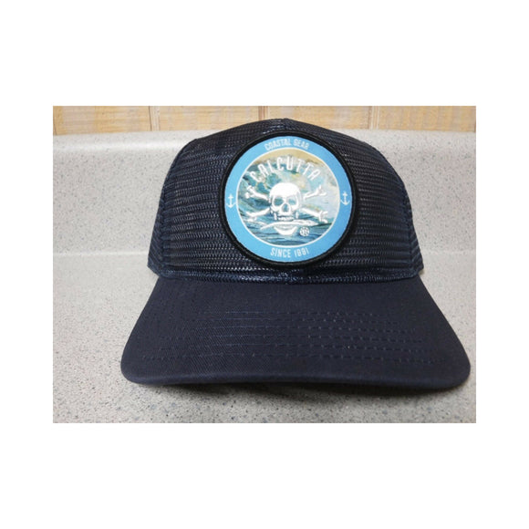 New Authentic Calcutta All Mesh Hat  Navy with Circle Patch