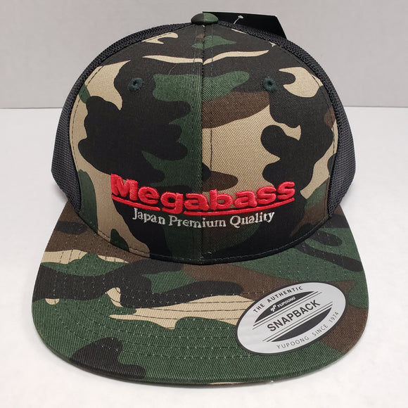 Megabass Classic Trucker Hat Camo Adjustable
