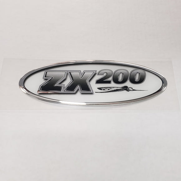 New Authentic Skeeter ZX200 Oval Emblem Black/Silver 8 1/2