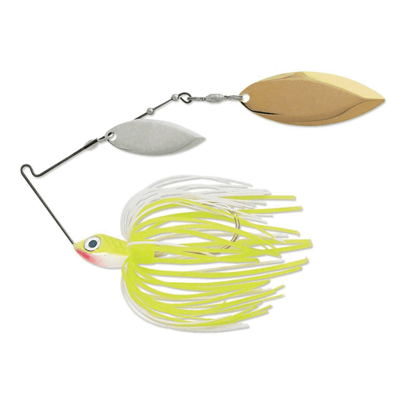 Terminator Super Stainless Spinnerbait Chartreuse White Shad 1/2 oz Willow/Willow