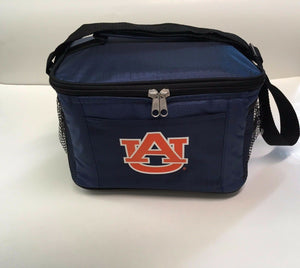 New NCAA Auburn Tigers Insulated Lunch Cooler/ Zip Closure