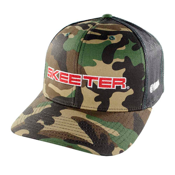 New Authentic Skeeter Richardson Hat Black Camo Trucker