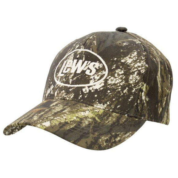 NEW Lews Hat Adjustable Mossy Oak Camo/ Beige Embroidered Logo