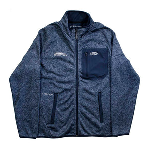 New Authentic Skeeter Aftco Full Zip Fleece Lined  Blue Softshell Jacket