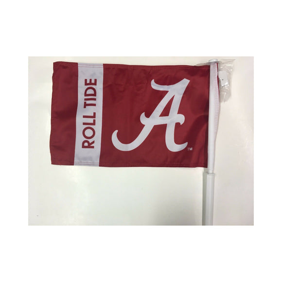 New Alabama Roll Tide Car Flag with Kit to Convert Wall Flag