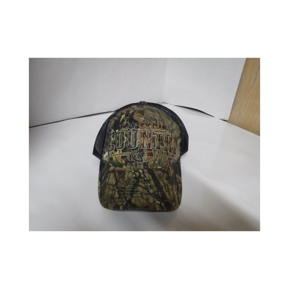 New Authentic Mossy Oak Hat Green Tree Camo/ Navy Blue Mesh/ Country Logo