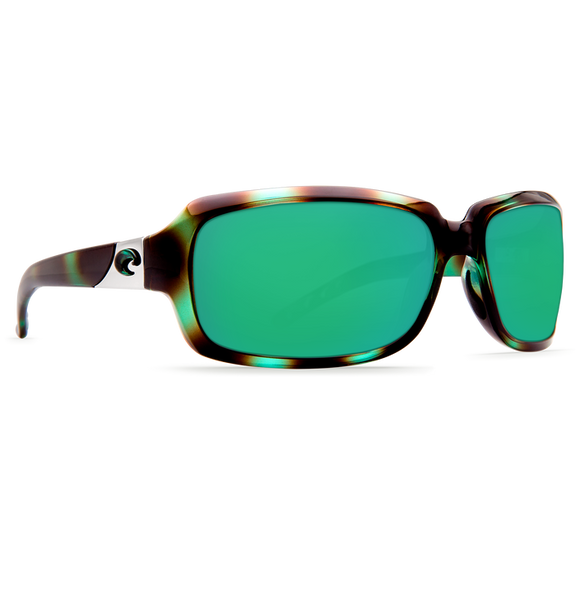 Shiny Seagrass Frame Green Mirror Glass Lens
