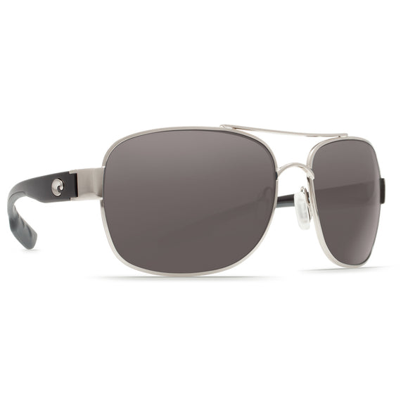 New Authentic Costa Cocos Sunglasses Palladium/ Polarized Gray Lens 580P