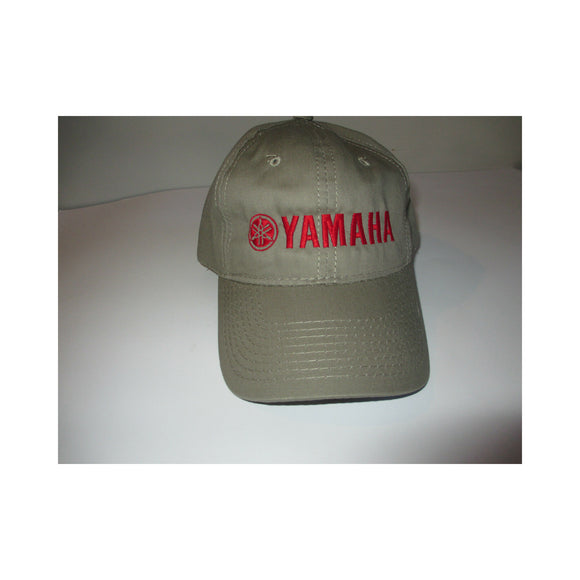 New Authentic Yamaha Hat Khaki/ Red Logo