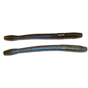 Zoom Magnum Finesse Worm Green Pumpkin/ Blue Flash