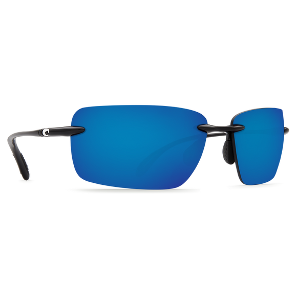 Shiny Black Frame Blue Mirror Lens 580P
