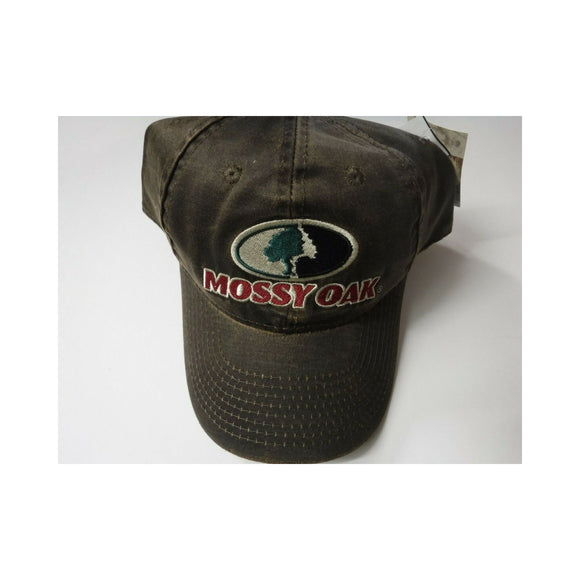 New Authentic Mossy Oak Hat Green Tree Brown/ Red Mossy Oak