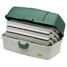 Plano 3-Tray Tackle Box Green/White