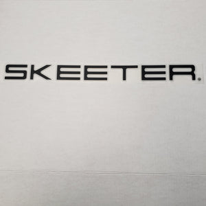 New Authentic Skeeter Emblem Black/ Silver 11""