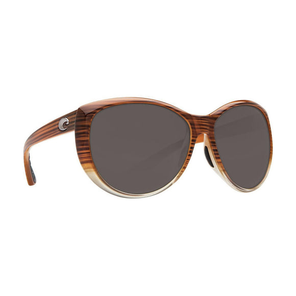 Z Discontinued Costa La Mar Sunglasses Wood Fade/ Polarized Gray Lens