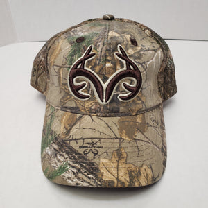 New Authentic RealTree Hat Adjustable Camo/ Camo Mesh Back