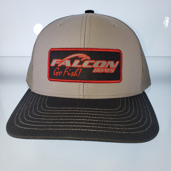 Falcon Boats Hat New Falcon Boats Hat Heather Gray/ Black Bill/ Charcoal Mesh Richardson