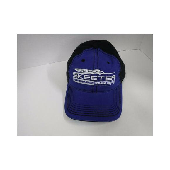 New Authentic Skeeter Richardson Cloth Hat Blue/ Back Black