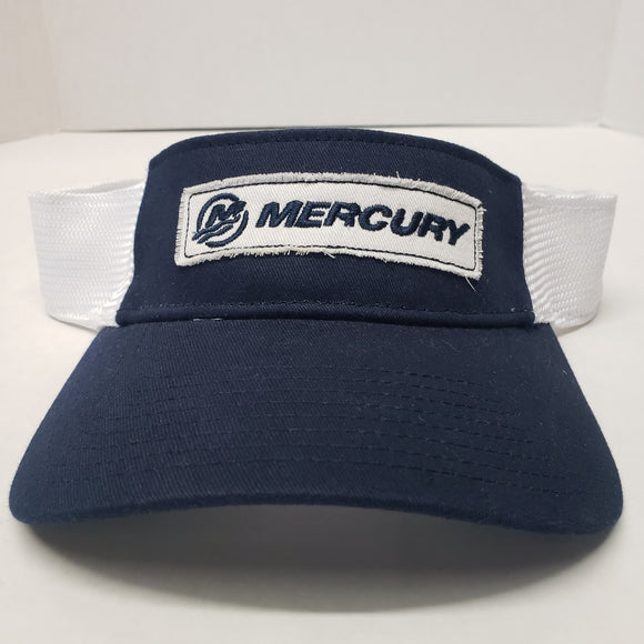 New Authentic Mercury Marine Visor Navy/ White Band and Logo
