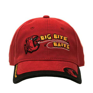 Big Bite Baits Hat Red w/ Fish Logo