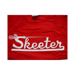 Z New Authentic Skeeter Long Sleeve Classic Crew Shirt Pullover/ Heather Red Large