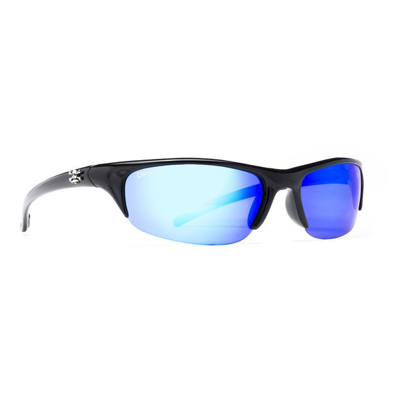Shiny Black Frame/ Polarized Blue Mirros Lens