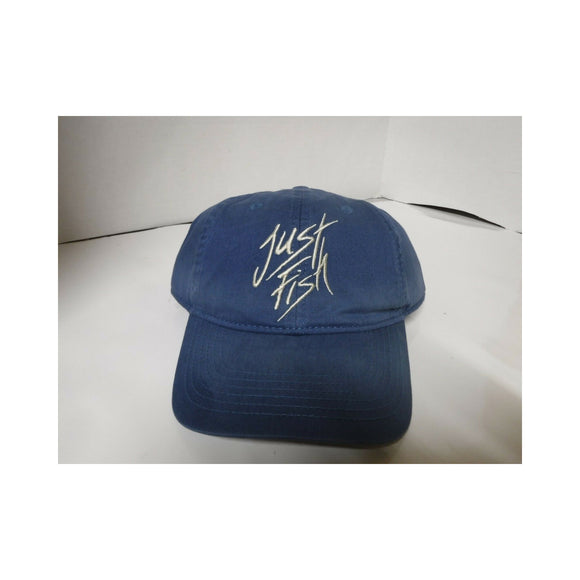 New Authentic Outdoor Cloth Hat Blue/ Just Fish