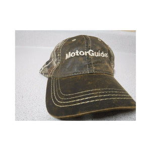 New Authentic MotorGuide Hat Faux Leather Camo/ Realtree Back
