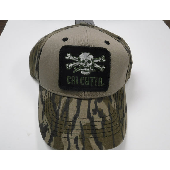 New Authentic Calcutta Hat Tan/ Bill and Back Camo/ Black Patch Logo