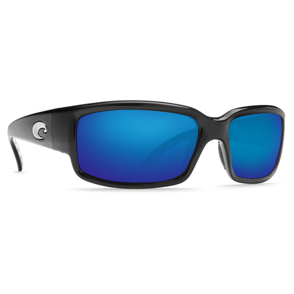 Black Frame/ Polarized Blue Mirror Lens