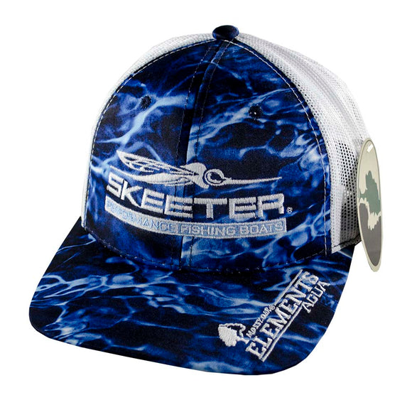 New Authentic Skeeter Hat Richardson Hat Blue Agua/ Marlin/ Back White Mesh