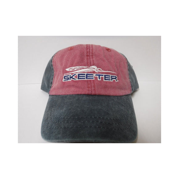 New Authentic Skeeter Richardson Hat  Navy/ Red Faded Look