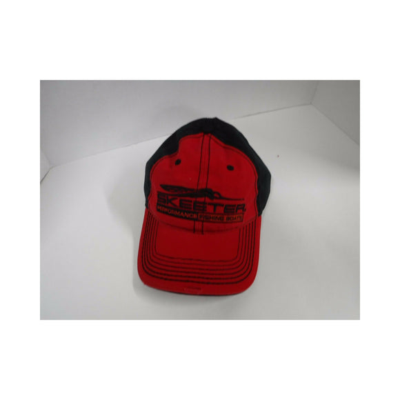 New Authentic Skeeter Distressed Richardson Hat Red/ Black Back