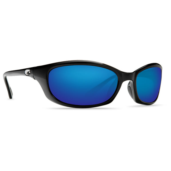 Shiny Black Frame Blue Mirror Glass Lens