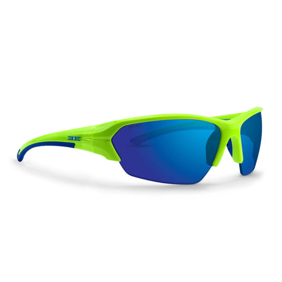 Lime and Blue Frame/ Green Mirror Lens