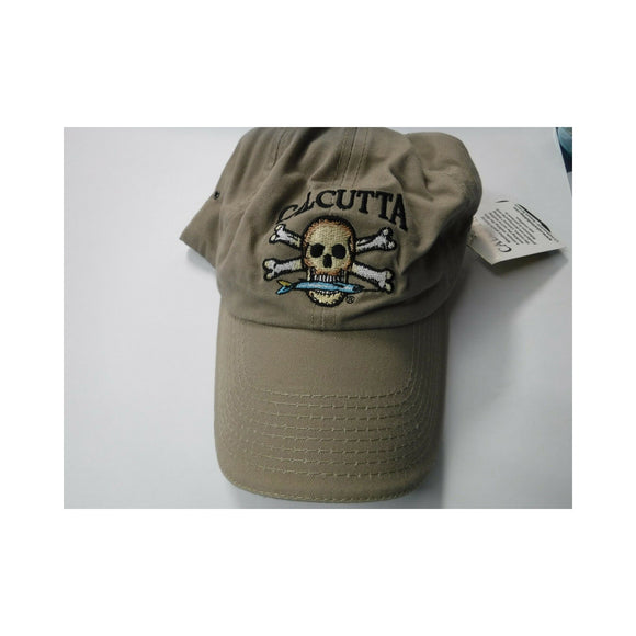 New Authentic Calcutta Hat Khaki with Colored Logo
