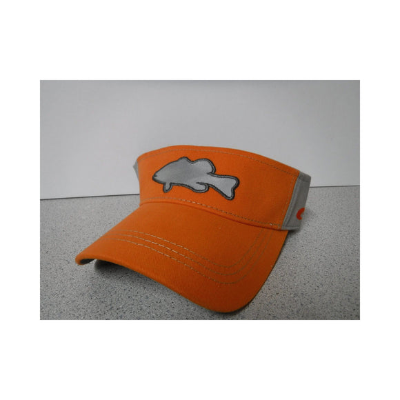 New Authentic Costa Visor Adjustable Orange/ Reflective Gray Fish